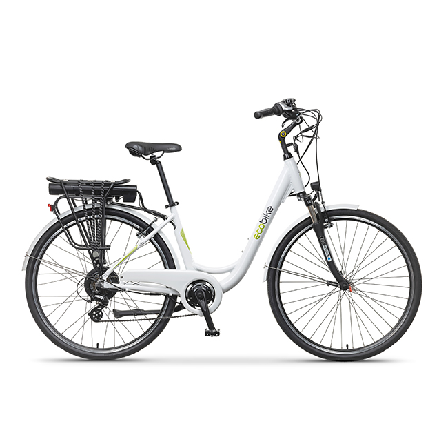 Rower Elektryczny ecobike city L white