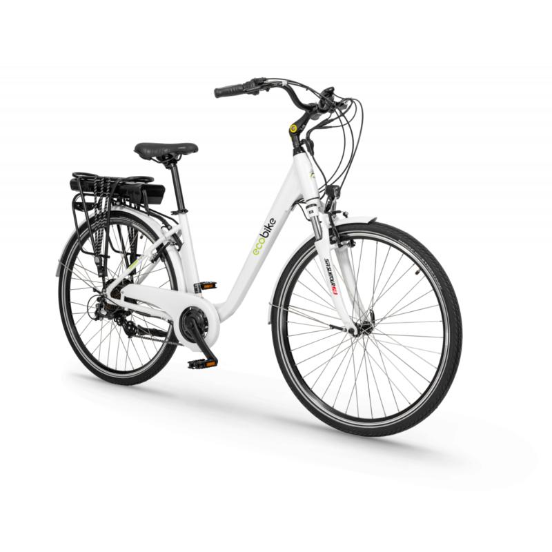 Rower elektryczny Trafik White 28″ (Bateria 13Ah)